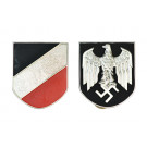 Afrika Korps Pith Helmet Badges - Army Issue