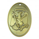 Prussian State Police Identification Tag - Brass