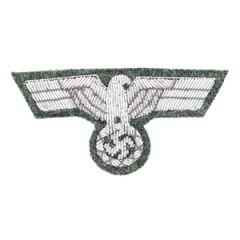 German Army M1943 Silver Bullion Cap Eagle