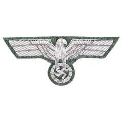 German Army M1943 Silver Bullion Breast Eagle