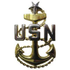 US Navy Senior Chief Petty Officer Cap Badge