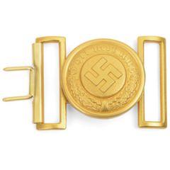 German WW2 Police General's Gold Belt Buckle