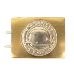 "German WW1 Brass ""Front heil"" Veteran's Association Belt Buckle"