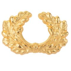 Army Metal Visor Cap Wreath - Gold