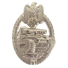 Army Panzer Assault Badge Stamped - Silver