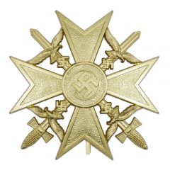 Spanish Cross with Swords - Gold