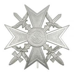 Spanish Cross with Swords - Silver