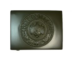 Army Enlisted Mans Green Painted Belt Buckle