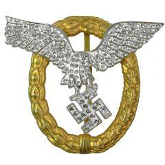 Luftwaffe Pilot Observer Badge with Diamonds