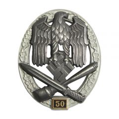 Numbered General Assault Badge - 50