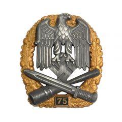 Numbered General Assault Badge - 75