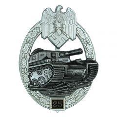 Numbered Panzer Assault Badge - 25