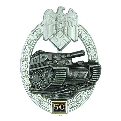Numbered Panzer Assault Badge - 50