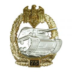 Numbered Panzer Assault Badge - 75
