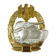 Numbered Panzer Assault Badge - 100
