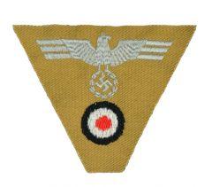 Army Afrika Korps EM Cap Eagle and Cockade M1941