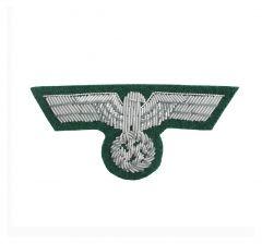 German Army Officer Silver Bullion Cap Eagle