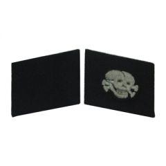 Totenkopf EM Collar Tabs (Single skull)