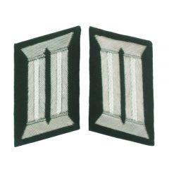 German Officer Collar Tabs (White)