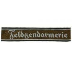 German Feldgendarmerie Brown BEVO EM Cuff Title