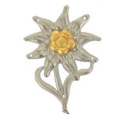 M43 Edelweiss Cap Badge (Officer)