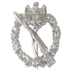 German Infantry Assault Badge - Silver (Hollow-backed)
