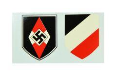 Hitler Youth Helmet Decals