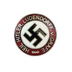 Heil Hitler Ludendorf von Graff Enameled Badge