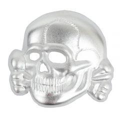 Waffen SS Cap Skull - Silver Effect