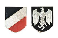 Afrika Korps Pith Helmet Badges - Army Issue