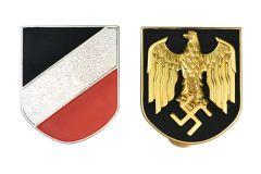 Afrika Korps Pith Helmet Badges - Kriegsmarine Issue