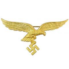Luftwaffe General's Metal Breast Eagle - Gold