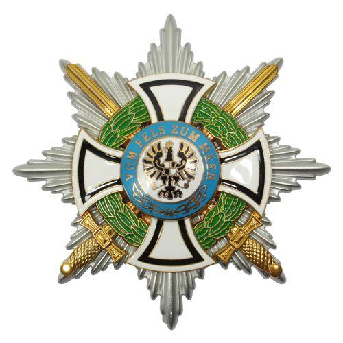 Grand Commander of the Royal House Order of Hohenzollern with Swords Breast Star