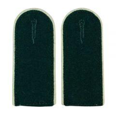 Infantry EM Shoulder Boards Bottle Green (White Piped)