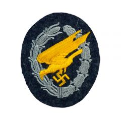 Luftwaffe Paratroopers Cloth Badge