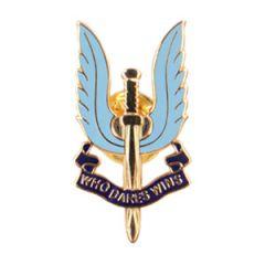 SAS Enamel Badge - Gold